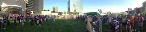 Panorama of the opening ceremony, Pelotonia 2014