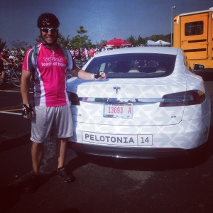 A special #Tesla for #Pelotonia. Two of my favorite things!